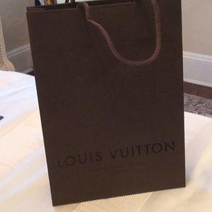 "LOUIS VUITTON brown shopping bag 11""x8""x2.5"""